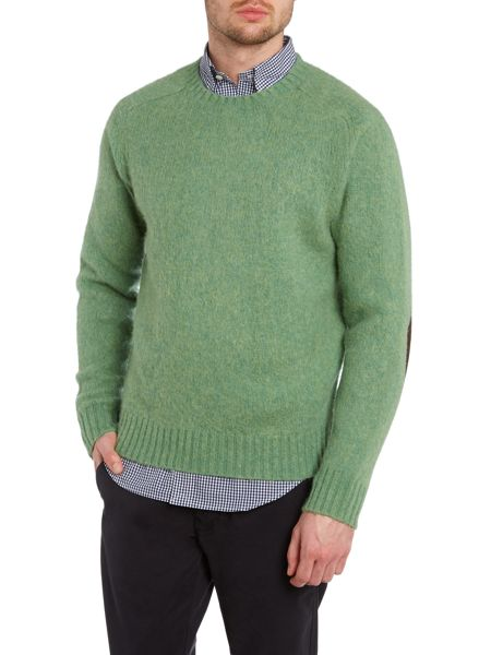 Polo Ralph Lauren Crew neck wool jumper with elbow patch