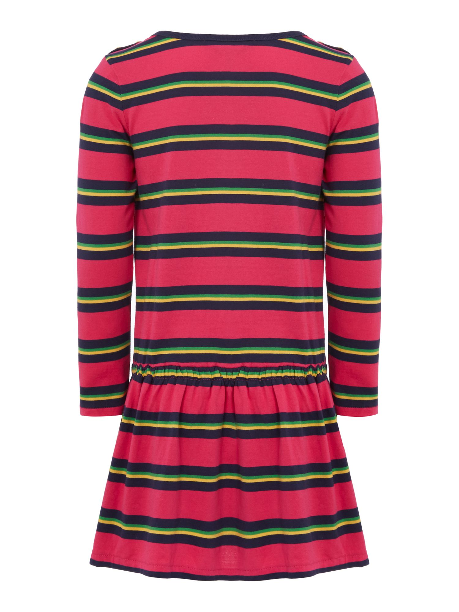 Girls striped drawstring dress