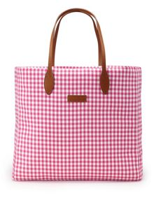 Ralph lauren check tote bag