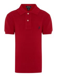 Boys short sleeved polo shirt with pony