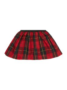 Girls plaid tartan skirt