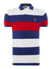 Custom Fit Stripe Polo Shirt