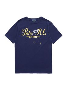 Boys Short Sleeved Small Chest Graphic T-Shirt