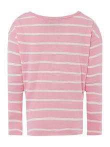 Girls Long Sleeved Small Stripe Tee
