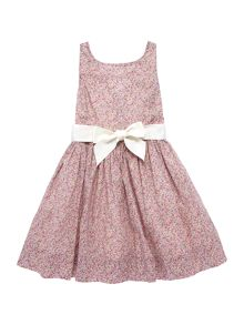 Polo Ralph Lauren Girls Floral Dress With Ribbon