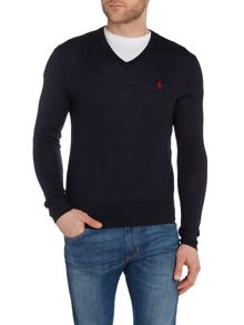 Polo Ralph Lauren Plain V Neck Pull Over Jumper