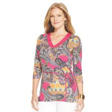 Lauren Woman 3/4 sleeve printed top