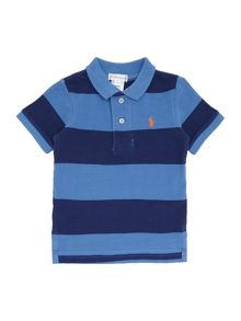 Polo Ralph Lauren Boys Block Stripe Small Pony Player Polo