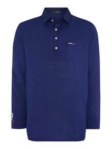 Long sleeved pocket polo