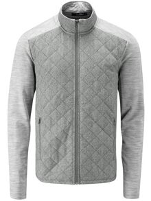 Quilted full zip cardigan