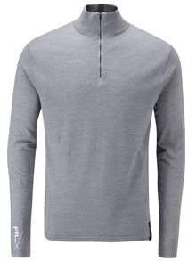 Links lined half zip sweater