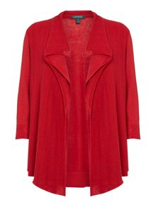 Plus Suze 3/4 Sleeve Open Front Cardigan