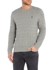 Tussah Silk Cable Knit Jumper