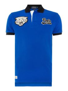 Polo Ralph Lauren Custom Fit Tiger Logo Mesh Polo