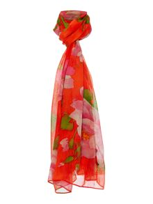 betty floral large oblong scarf