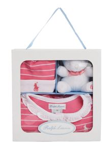 Polo Ralph Lauren Girls Stripe All-In-One Gift Box