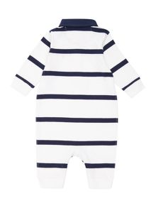 Polo Ralph Lauren Baby boys rugby stripe pony player all in one