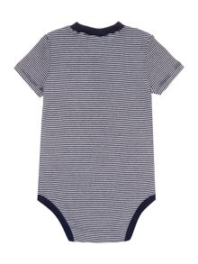 Baby Boys Henley Multi Stripe Bodysuit