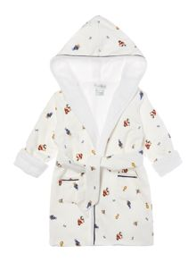 Polo Ralph Lauren Newborn Boys Dressing Gown With Teddy Print