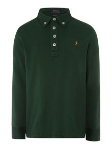Polo Ralph Lauren Boys Long Sleeve Pima Cotton Polo