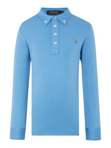 Boys Long Sleeve Pima Cotton Polo
