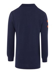 Boys Long Sleeved Polo With Big Pony Player
