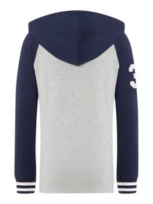 Boy Long Sleeve Hooded Rugby Top