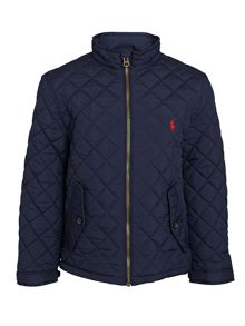 Polo Ralph Lauren Boys Quilted Barn Jacket With Small Pony Player