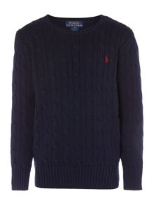 Polo Ralph Lauren Boy Long Sleeve Cable Knit Jumper