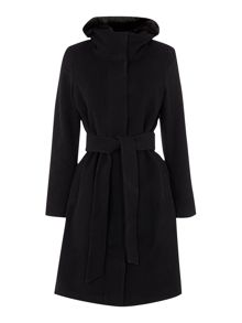 Lauren Ralph Lauren Belted zip front with removable fur coat
