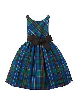 Girls sleeveless tartan dress