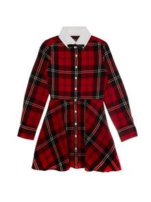 Polo Ralph Lauren Girls long sleeved tartan print