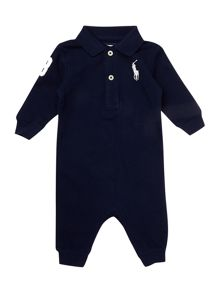 Boys long sleeve polo all in one