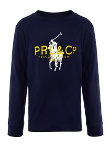 Boys long sleeved t-shirt with large pony graphic