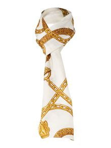 Abigail Chain Print Silk Long Scarf- Exclusive