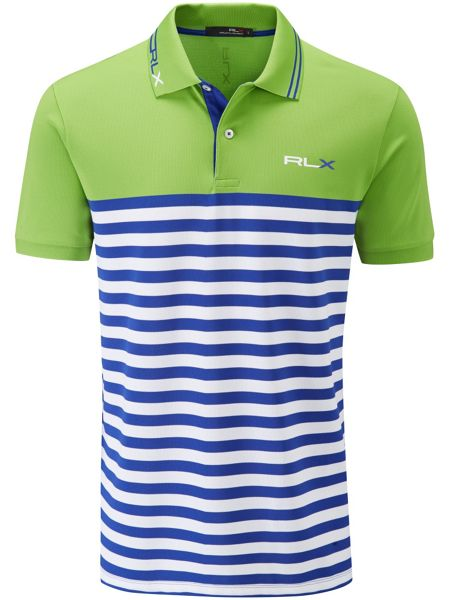 RLX Ralph Lauren Stripe tech polo