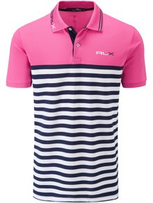 Stripe tech polo