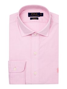 Slim Estate Collar Tonal Pony Player Shirt