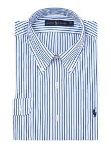 Custom Fit Button Down Three Stripe Shirt