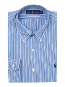 Polo Ralph Lauren Custom Fit Button Down Three Stripe Shirt