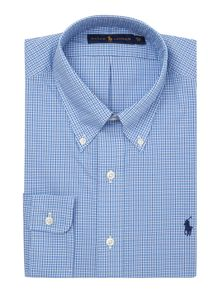 Custom Fit Button Down Collar Check Shirt