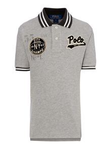 Polo Ralph Lauren Boy`s Short Sleeve Contrast Stripe Polo