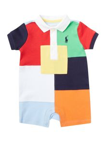 Polo Ralph Lauren Baby Boys Patchwork Shortall