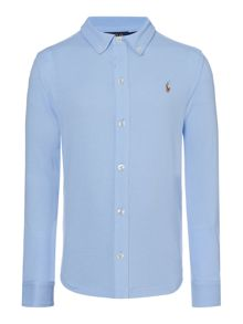 Polo Ralph Lauren Boy`s Mesh Button Down Collar Shirt
