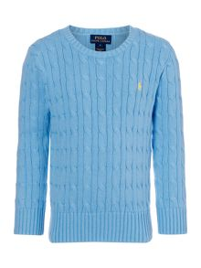 Boys Crew Neck Cable Jumper