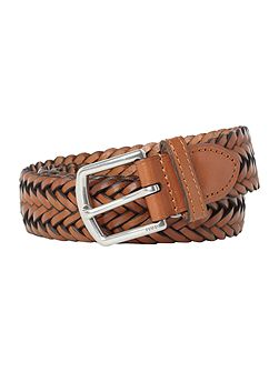 Leather classic braided belt