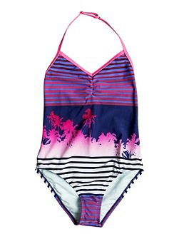 Girls Sunset Party One-Piece Swimsuit
