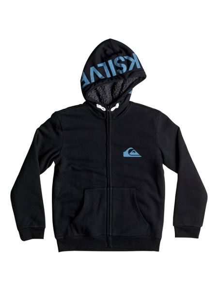 Quiksilver Boys Best Wave Sherpa Zip Up Hoodie