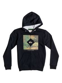 Quiksilver Boys Diamond Day Zip Up Hoodie