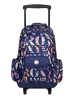 Girls Wheeled School Backpack